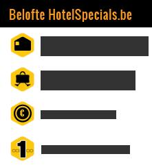 Belofte HotelSpecials.be : meer dan 1 miljoen boekingen gedaan, laagste prijs garantie, meer dan 4000 hotels & exclusieve aanbiedingen