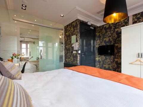 Deluxe kamer met uitzicht op de gracht