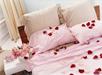 Rozenblaadjes op kamer/bed